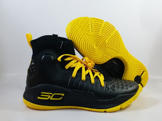 UA Under Armour Curry 4 Black Yellow  Jual Sepatu Basket Replika Import Premium