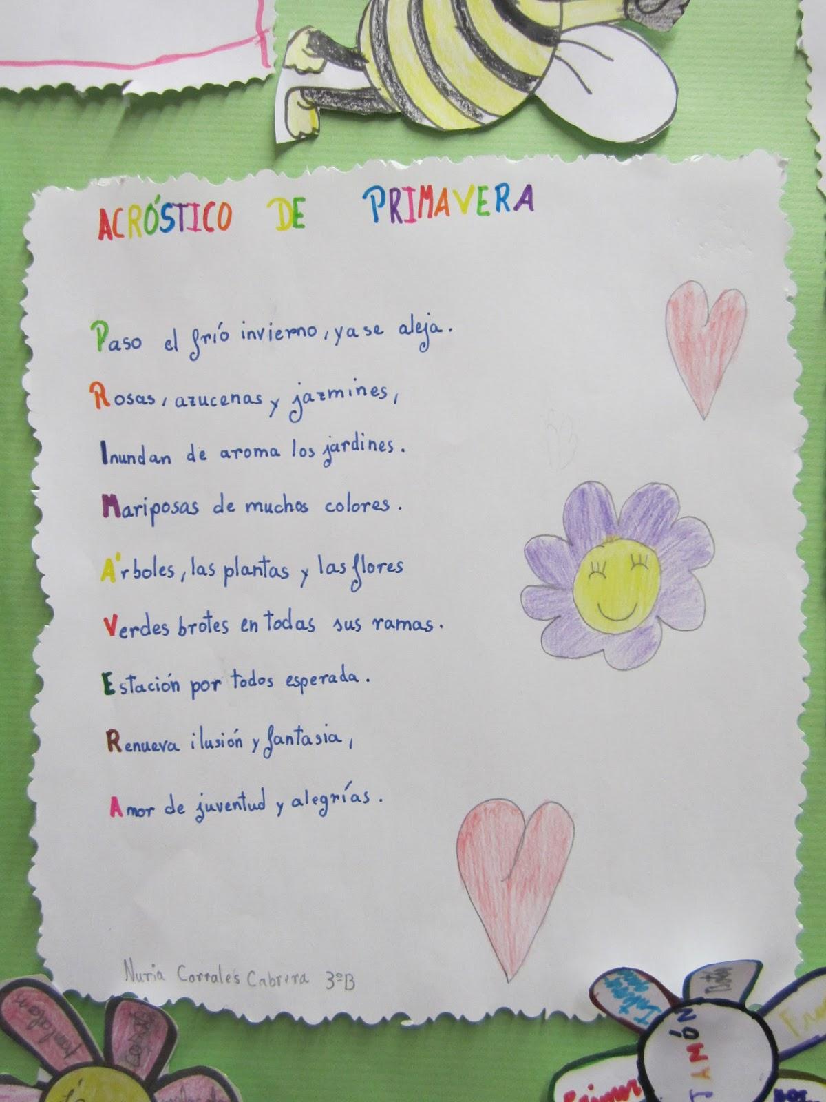 Perfecto Plantilla De Poema Acróstico De Primavera Ornamento ...