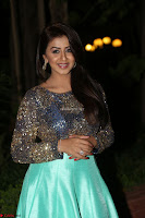Nikki Galrani in Green Skirt  Top at Marakathamani music launch ~  Exclusive (66).JPG