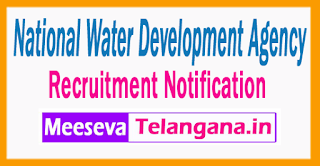 National Water Development Agency  Recruitment Notification  2017 Last Date Within 60 days