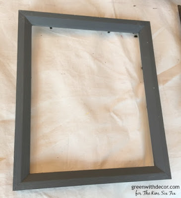 Give an old frame a distressed look, turn an old thrift store frame into a chalkboard with some chalkboard paint. A fun DIY project.