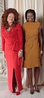 Chantal Biya and Michelle Obama