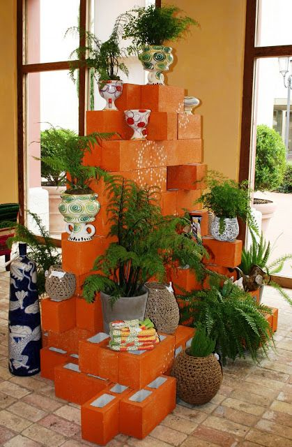 20 decoration ideas to make with concrete blocks 20
