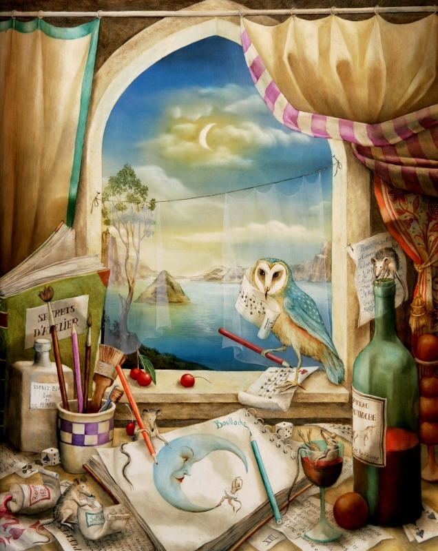 04-Chouette-Atelier-Agnes-Boulloche-Paintings-that-Spill-over-into-the-World-of-Surrealism-www-designstack-co
