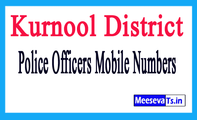 Kurnool District Police Officers Mobile Numbers