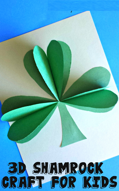 Make a Clover Craft with the Kids st patricks day