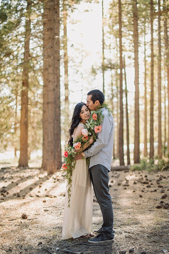 Romantic Big Bear Lake Engagement Session Southern