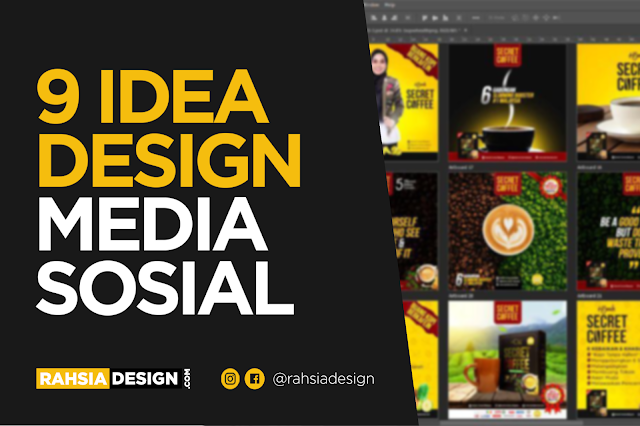 9 Idea Design Poster Media Sosial, Facebook, Instagram & Twitter