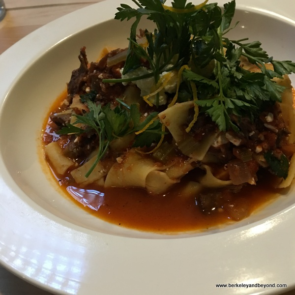 lamb sugo pappardelle at B&B Kitchen & Wine Bar in Berkeley, California