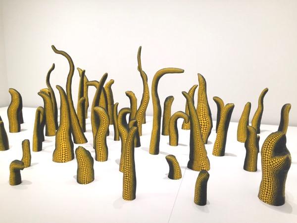 Yayoi Kusama soft sculptures Broad