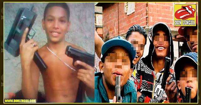 El niño de 13 años que era el líder de una peligrosa banda criminal y amaneció muerto en Aragua