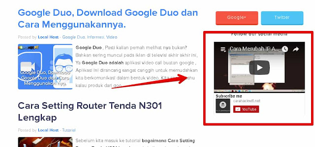 Cara Membuat Widget Playlist Youtube di Blogger