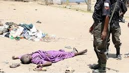 Nigerian Police shooting a person