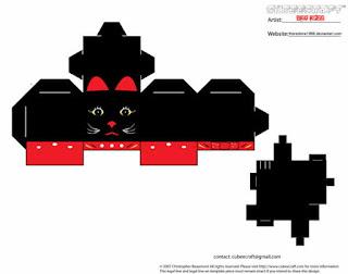 Cubeecraft gato de la suerte. Negro. Para descargar gratis