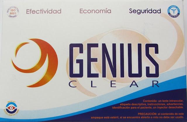 Nueva imagen del lente intraocular plegable Genius Clear monofocal.