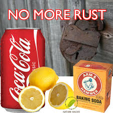 household products to remove rust