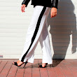Look of the day: Side stripe pants