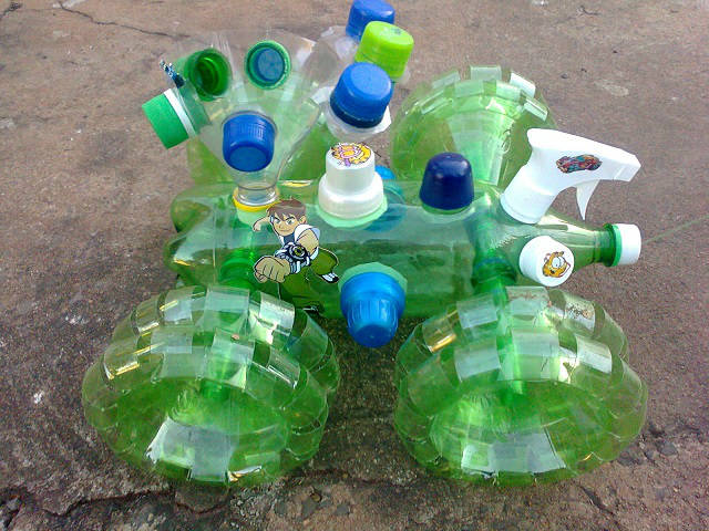 used plastic bottle toy how to make idea