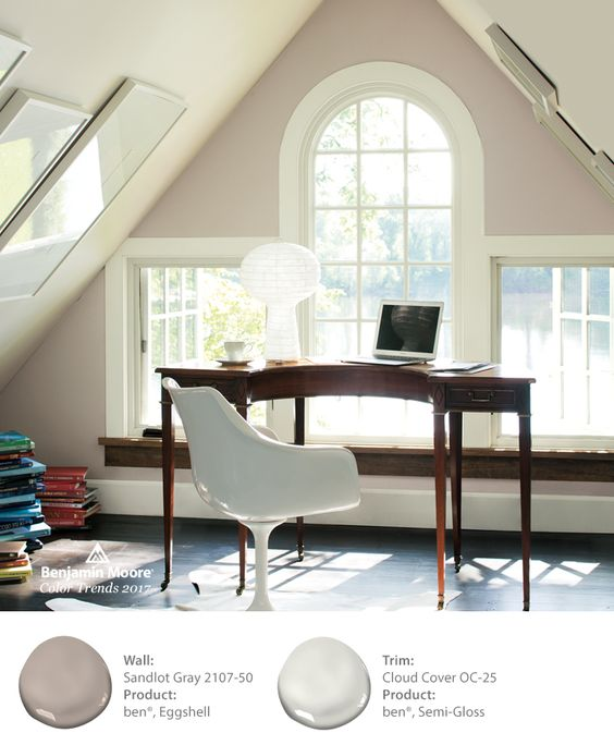 Benjamin Moore Sandlot Gray is one of 24 colors in the 2017 Color Paletts