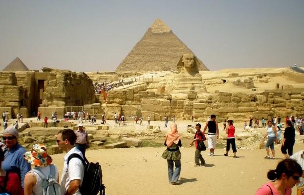Los turistas en Egipto