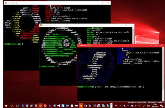 Fedora dan OpenSUSE akan tersedia pada Windows 10