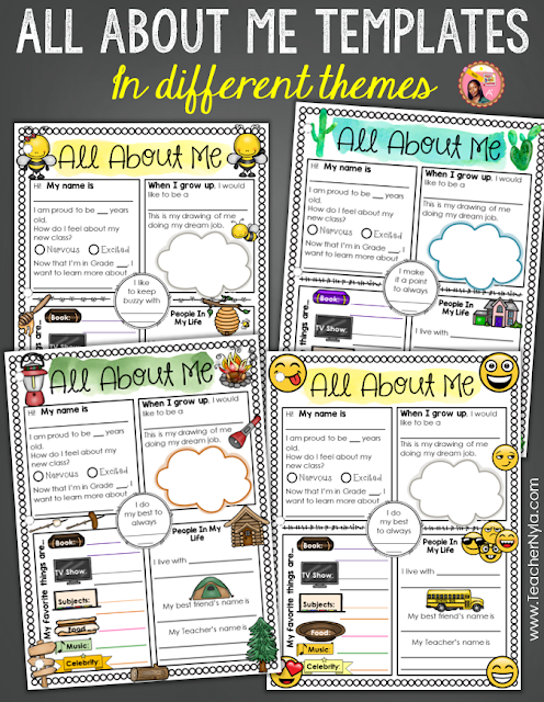 All About Me Writing Activities for Back to School