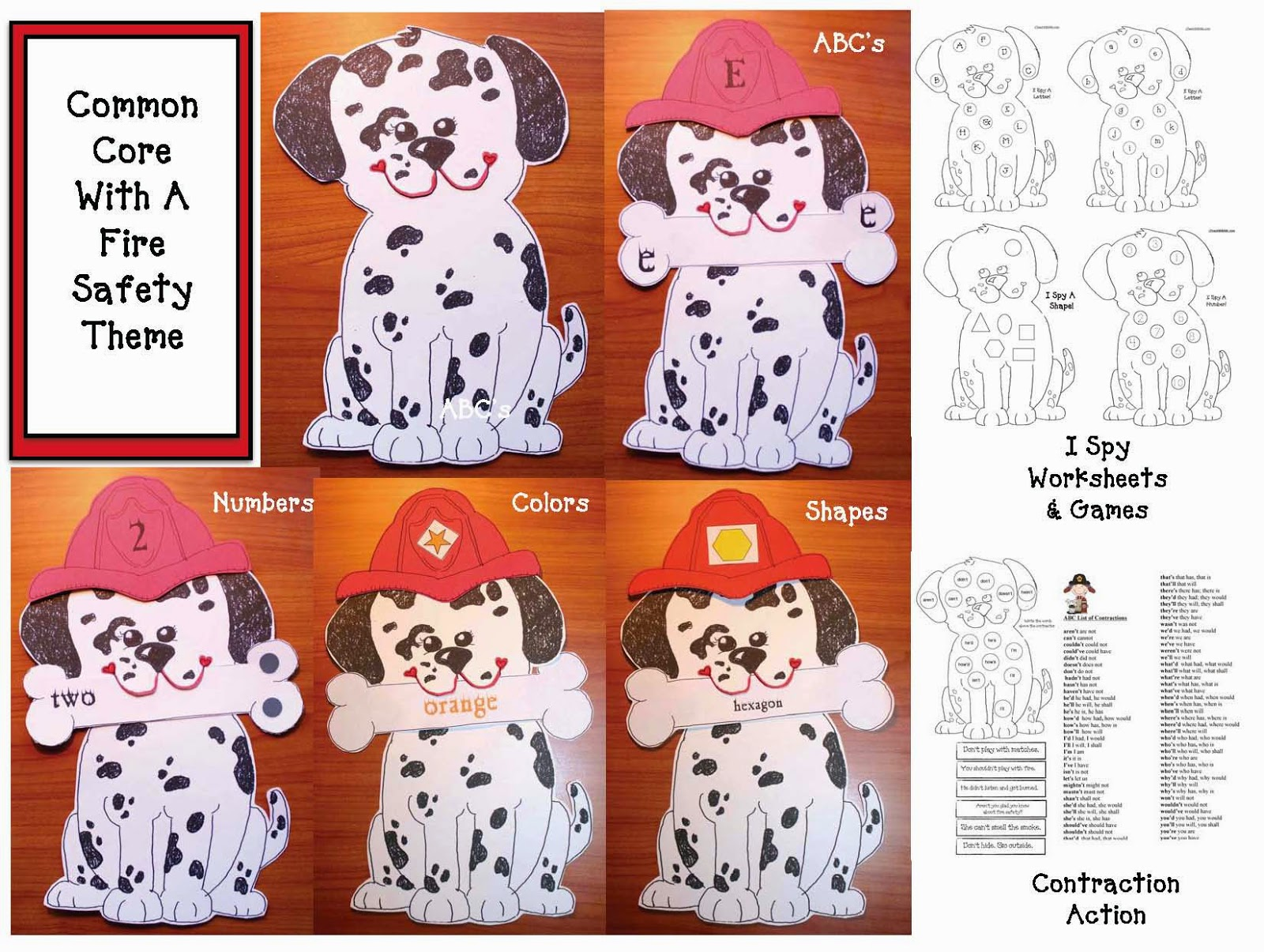 Classroom Freebies Common Core Fire Safety Puppy Packet