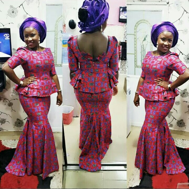 Elegant Kitenge Mixed With Lace,Satin And Chiffon