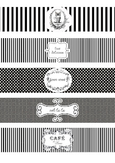 Cafe de Paris Black and White Wrappers