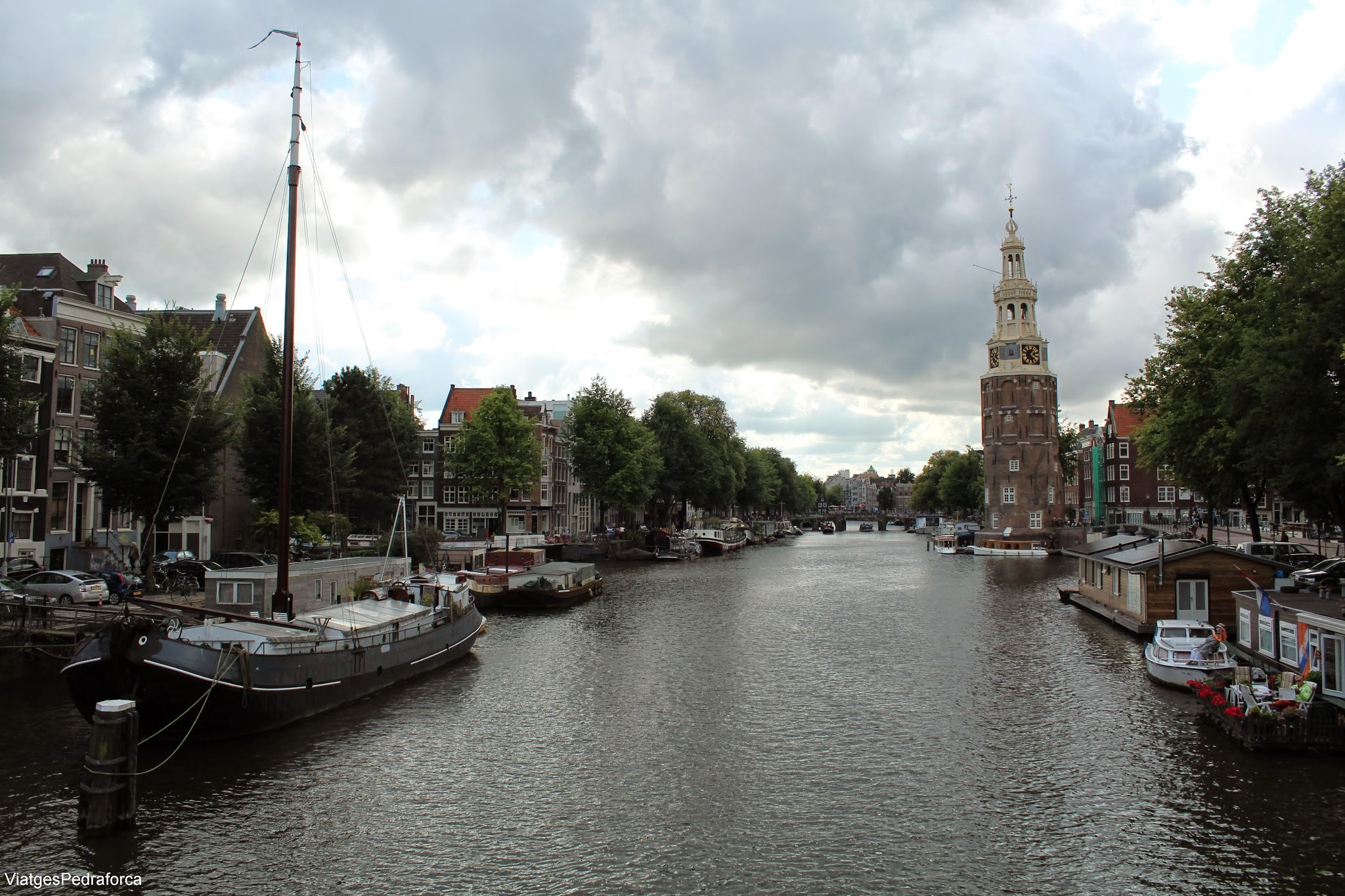 Montelbaanstoren, la Torre del Rellotge Amsterdam Holanda Països Baixos Unesco