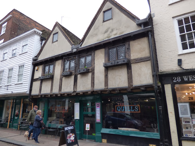 Architecture on Rochester High Street, Kent