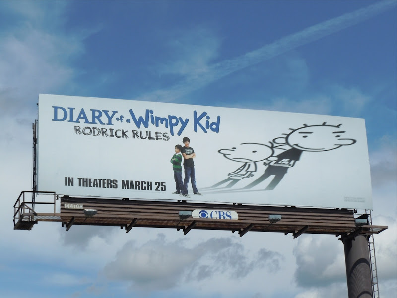 Diary of a Wimpy Kid 2 movie billboard