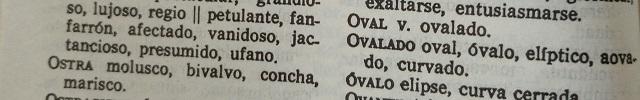 Palabras que empiezan por O