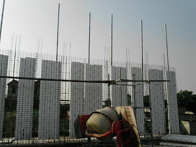 Lắp dựng Panel 3d Tường chịu lực