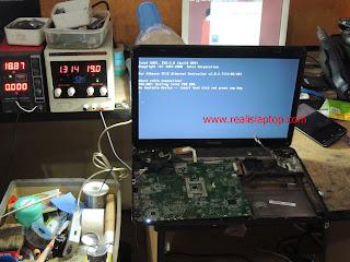 Serfis Laptop Toshiba L740 Tidak Tampil