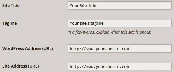 WordPress basic settings