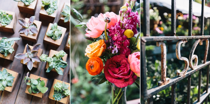 wedding floral details at Wahoo Grill in Decatur