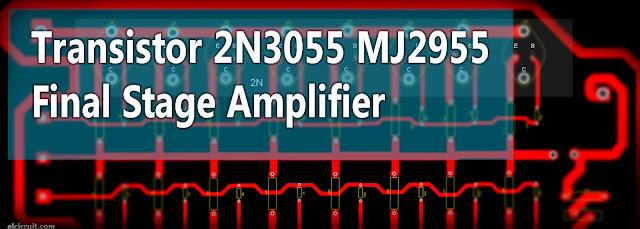 2N3055 MJ2955 Booster Transistor Circuit