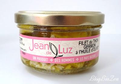 filet de thon germon huile bio - conserverie Jean de Luz