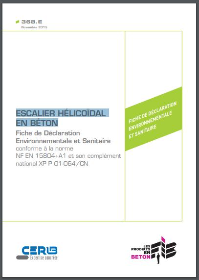 béton, escalier hélicoïdal, FDES, Fiche de Déclaration Environnementale et Sanitaire