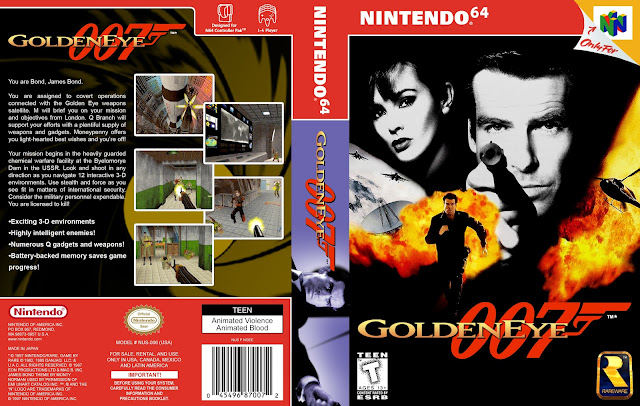 Capa 007 Goldeneye Nintendo 64