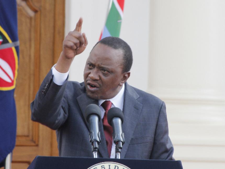 Uhuru Kenyatta Angry David Maraga