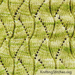 Scroll lace knitting stitch. Scroll lace pattern. Lovely lacy stitch - it looks so pretty - but is really easy to knit.