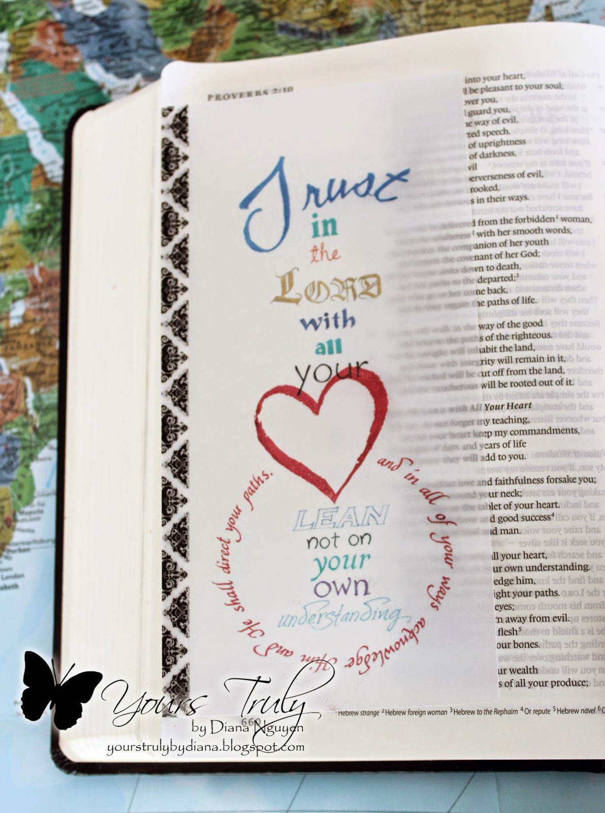 Diana Nguyen, Proverbs, Bible Journaling, Illustrated Faith, calligraphy
