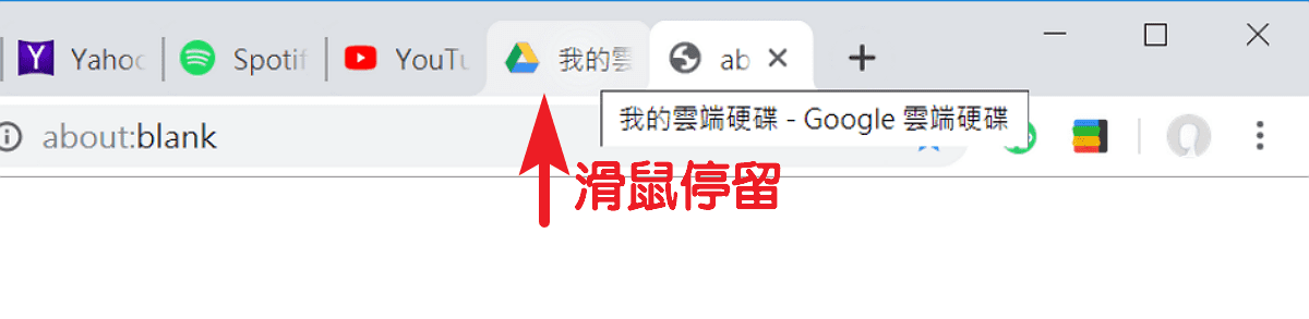 Chrome 標籤懸停卡