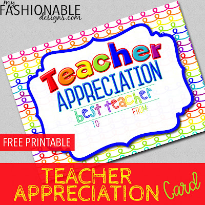 photograph relating to Printable Teacher Appreciation Card titled My Modern day Layouts: Absolutely free Printable Instructor Appreciation