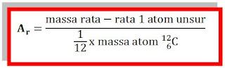 definisi massa atom relatif