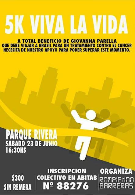 5k Viva la vida a beneficio de Giovanna Parrella (parque Rivera, 23/jun/2018)