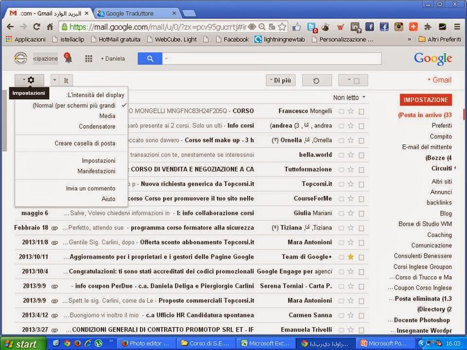 Come cambiare le impostazioni della lingua in Gmail