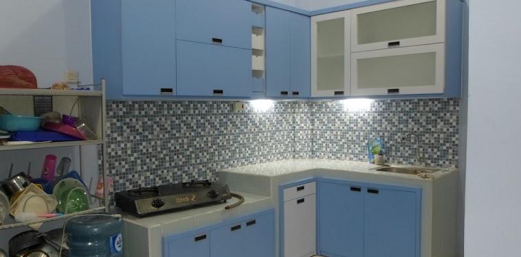Dekorasi Desain Dapur Warna Biru Terbaru